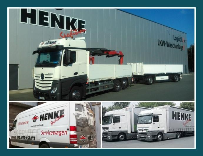 Spedition Henke Delbrück Paderborn Gütersloh Lagerung Schwertransporte
