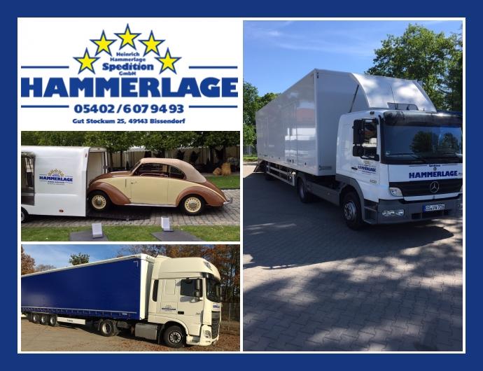 Spedition Hammerlage - Transportdienstleistungen in Bissendorf, Osnabrück, Melle, Bielefeld